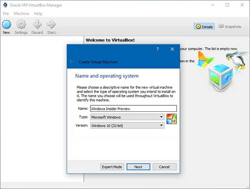 تحميل برنامج VirtualBox 32 bit 64 ويندوز 10 8 7 نظام وهمي
