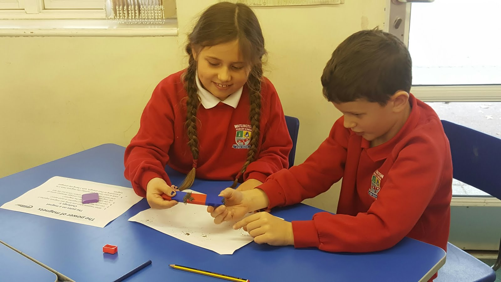Image result for primary school iron filings
