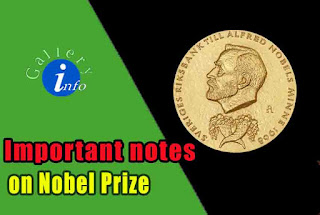Imortant Notes on Nobel Prize
