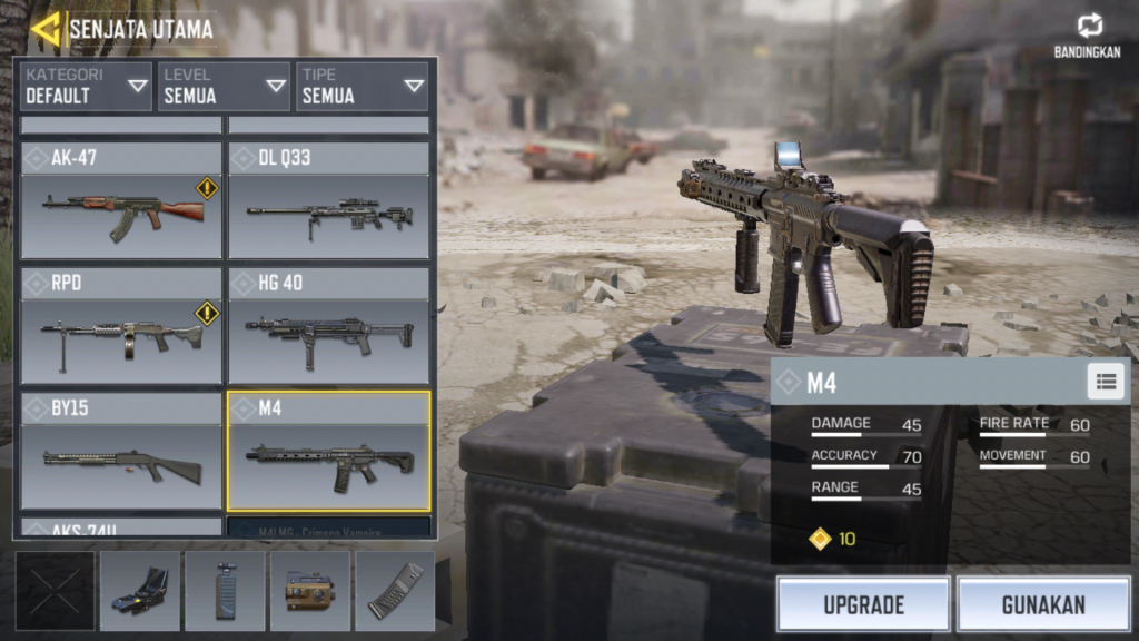 Assault Rifle COD Mobile Terbaik