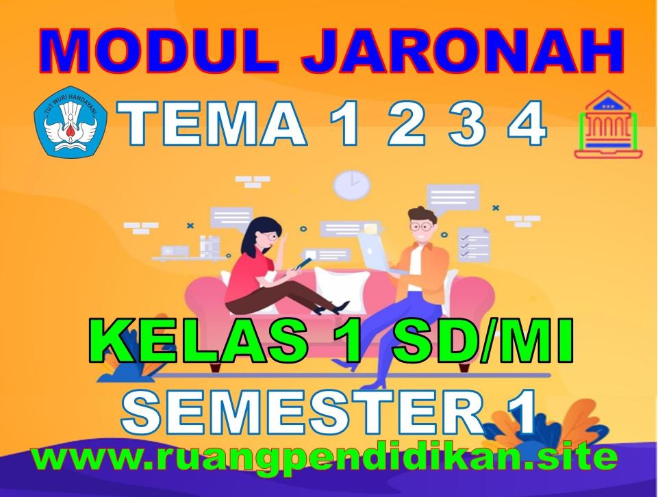 Modul BDR/PJJ/Online  Kelas 1 SD/MI