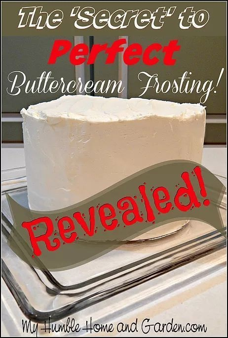 The Secret To Perfect Buttercream Frosting!