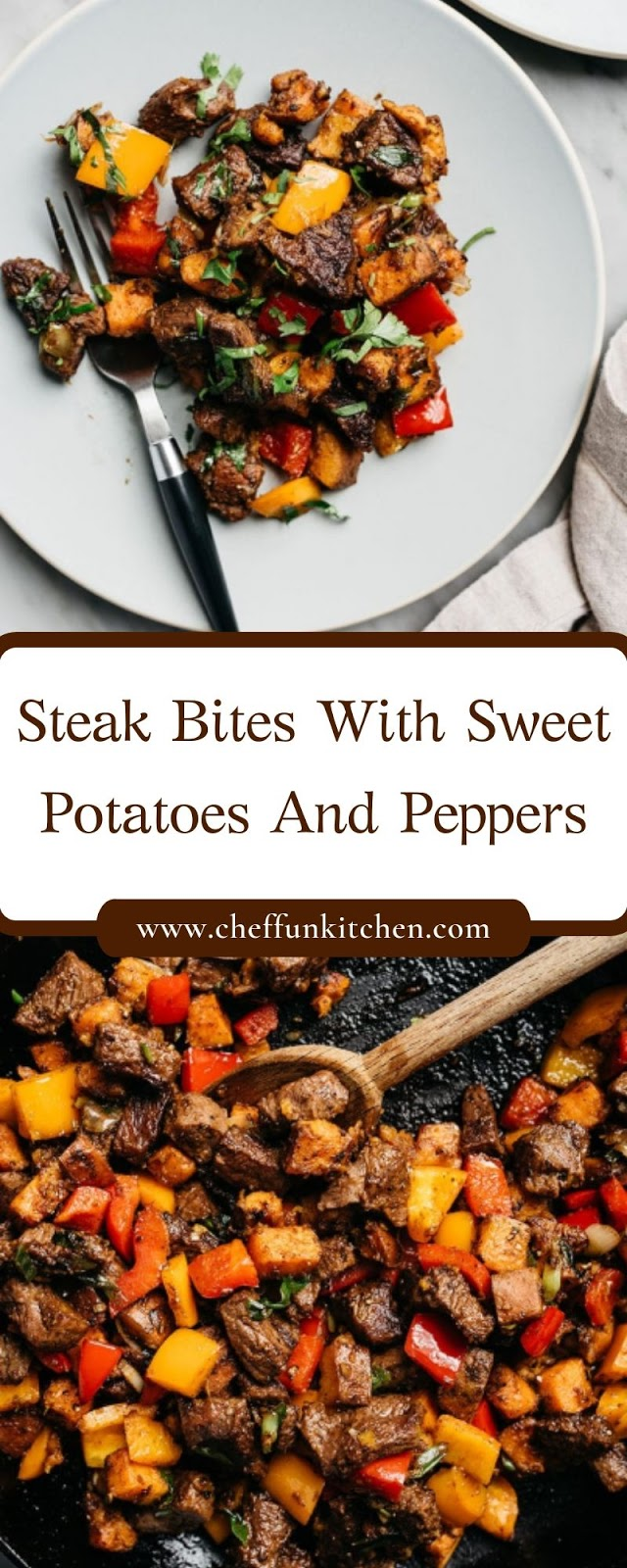 Steak Bites With Sweet Potatoes And Peppers