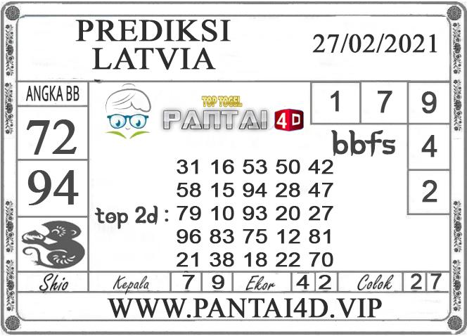 PREDIKSI TOGEL LATVIA PANTAI4D 27 FEBRUARI 2021