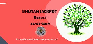 Bhutan Jackpot 24-07-2019,Bhutan Jackpot Result