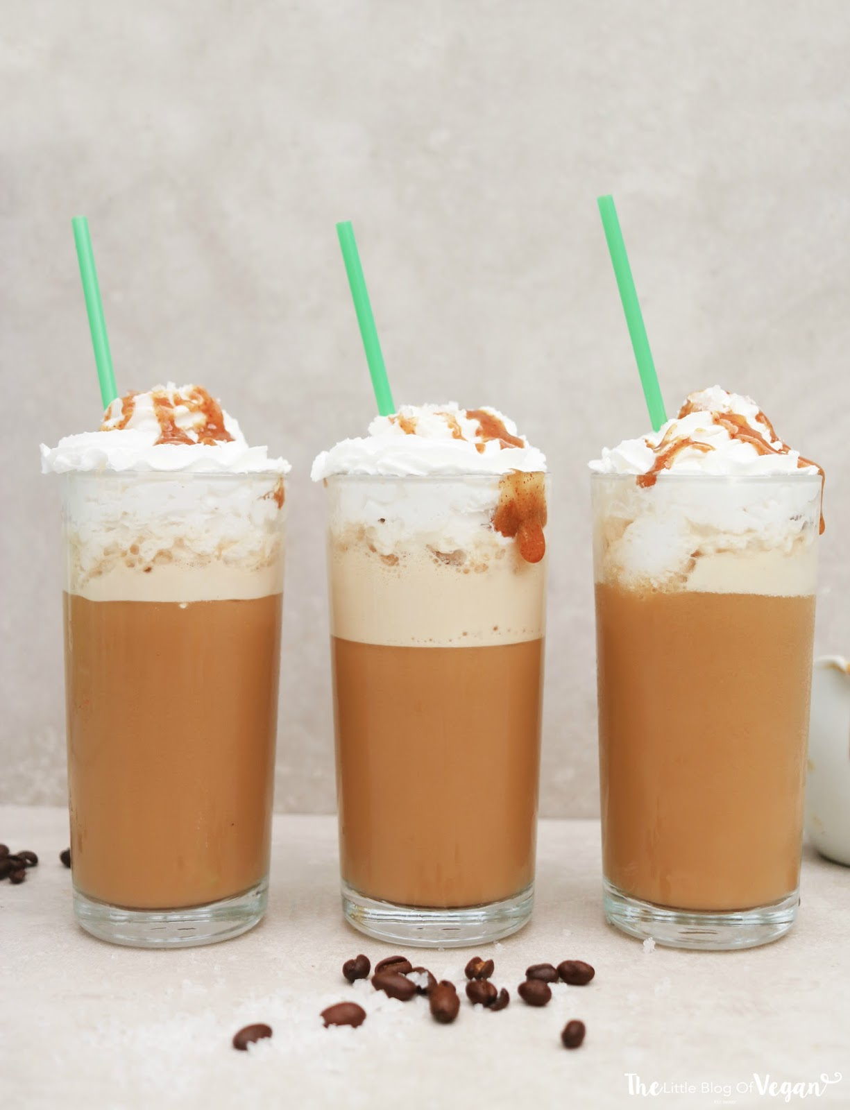 Vegan Starbucks Salted Caramel Frappuccino Recipe The Little Blog Of Vegan