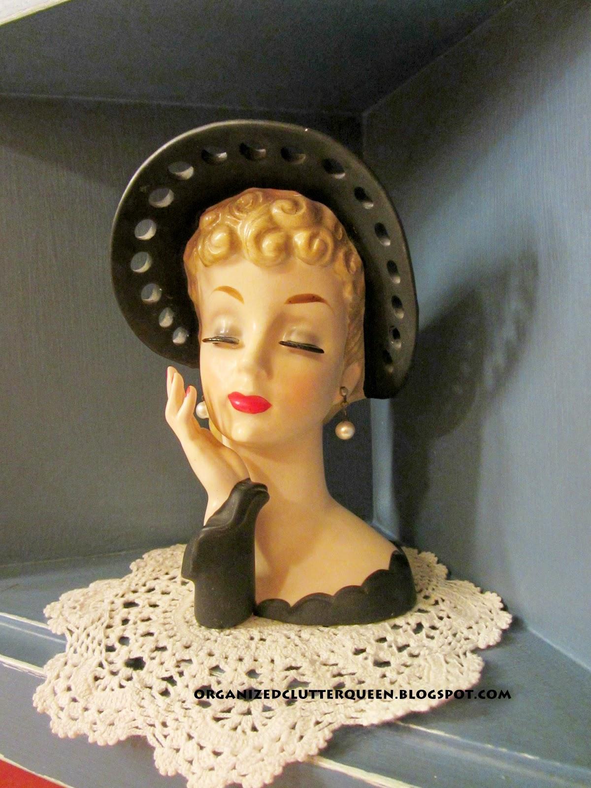 Vintage Lady Head Vases 24