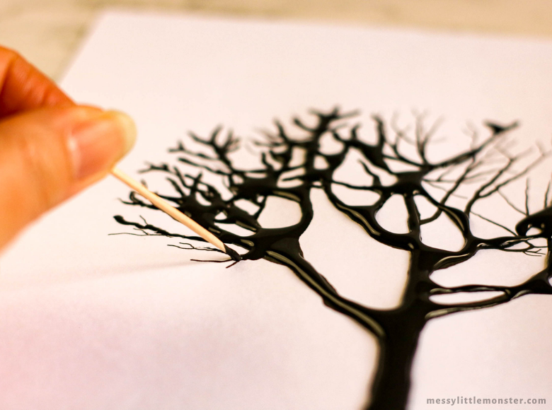 printable tree craft template