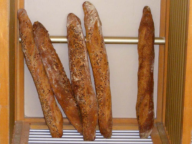 Baguettes for sale in a boulangerie. Indre et Loire, France. Photo by Loire Valley Time Travel.