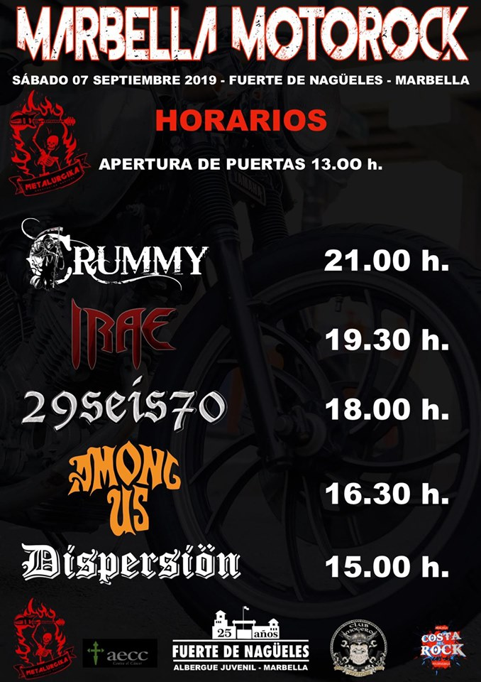 Horarios Motorock