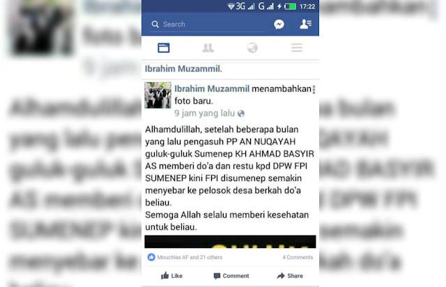 Dicatut, Rais Syuriyah NU Sumenep Madura Tak Merasa Restui Pendirian FPI