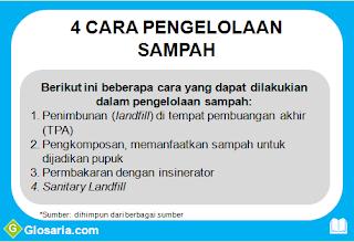 4 cara pengelolaan sampah dan limbah