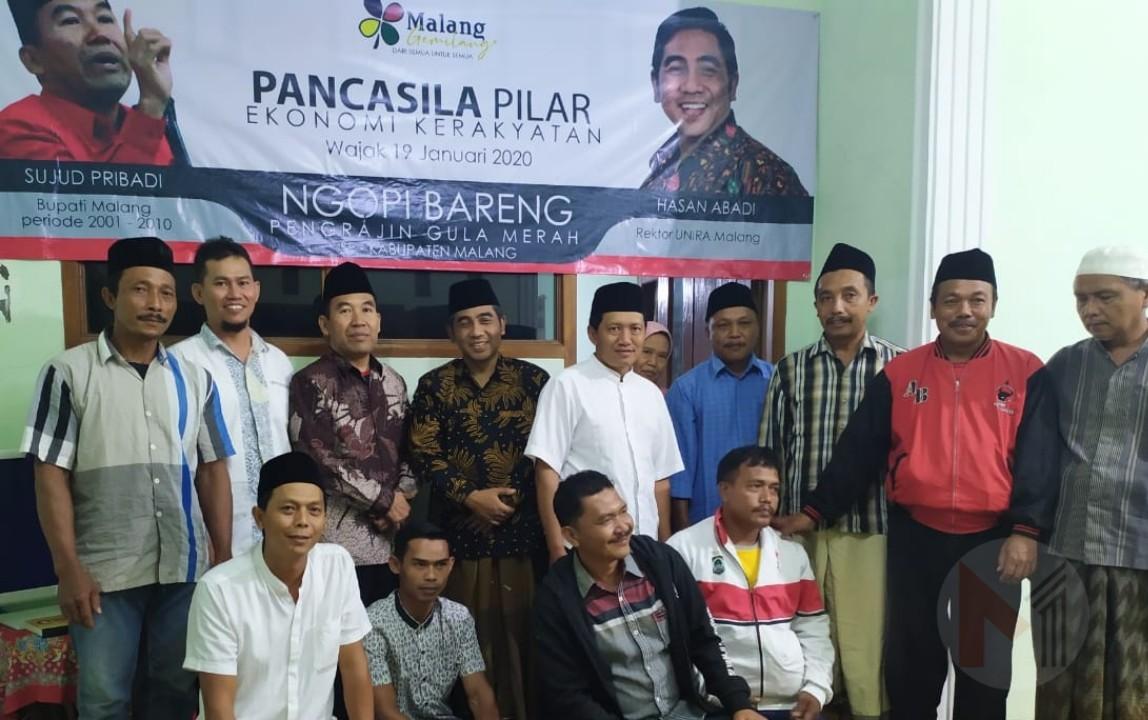 Gelar Ngopi Bareng, Paguyuban Pengrajin Gula Kabupaten Malang Dukung Hasan Abadi Dapat Rekom PDIP