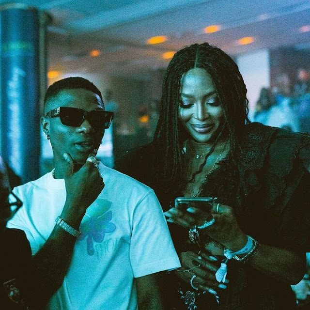 Wizkid And Naomi Campbell At Tiwa Savage's Concert (Photos)