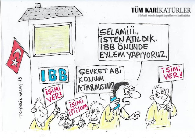 ibb işçi eylemi karikatür