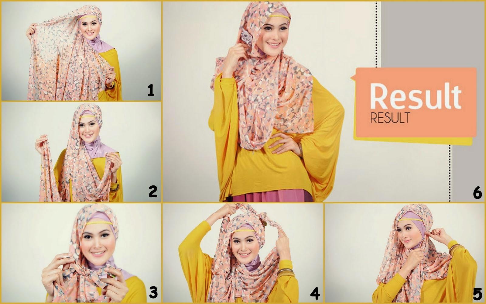 24 Gambar Terupdate Tutorial Hijab Pashmina Vemale Terlengkap