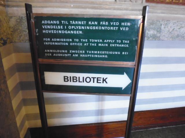 Biblioteca en el Ayuntamiento de Copenhague