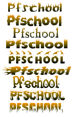 Download PF School: 18 Free Fire Ice Font Pack