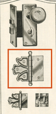 Sears Modern Homes catalog 1920 showing hinge