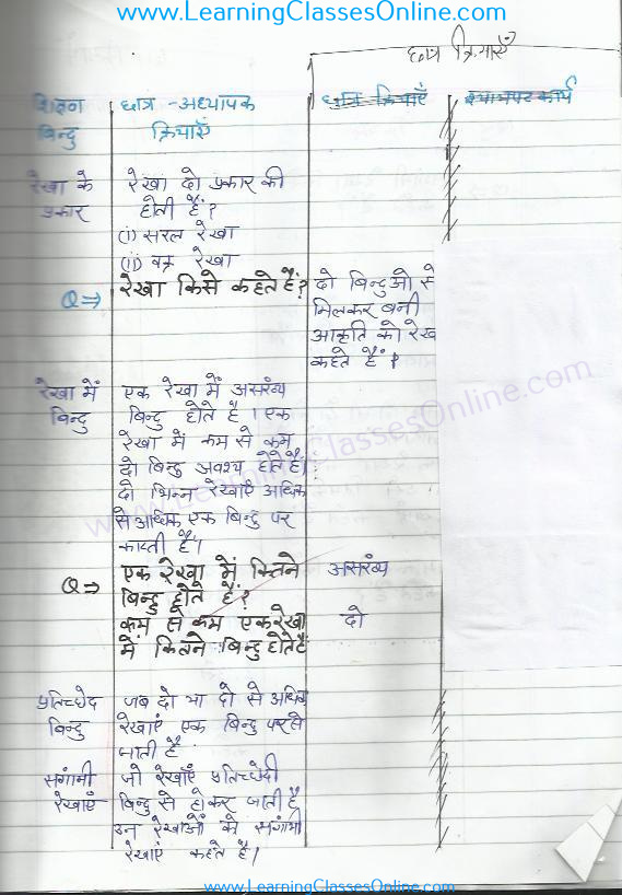 class 4th maths lesson plan hindi