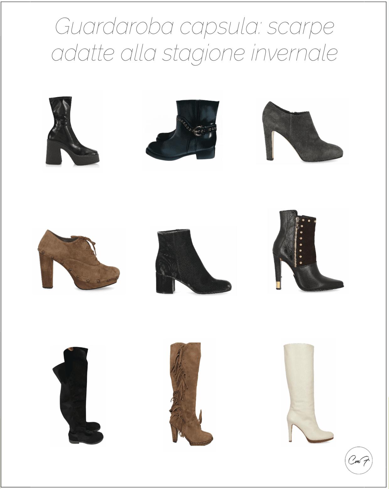 guardaroba capsula esempi di stivali invernali
