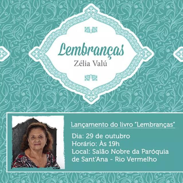 Aos 80 anos professora lança seu terceiro livro no Rio Vermelho