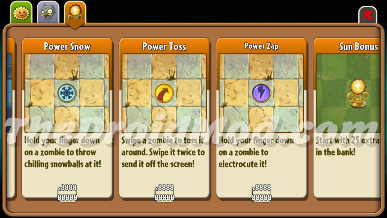 Plants vs Zombies 2 pp.dat Save Game with Unlimited Gems,Coins,Gauntlets,Mints,Sprouts,All Plants Unlocked,All Plants Maxed,All Upgrades,Power-ups,All Costumes Unlocked, 4 Profiles Screenshot 3 TheDroidMod.com