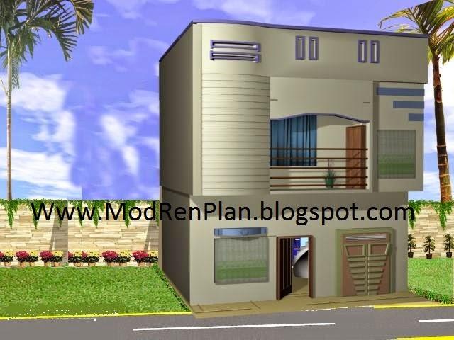 Wood Gate Elevation : Marla front design