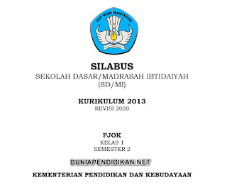 Silabus PJOK Kelas 1 SD/MI Semester 2 Kurikulum 2013 Revisi 2021