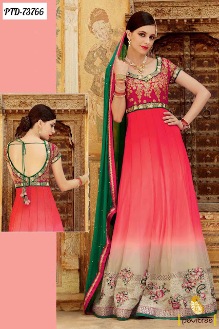 Indian Festival Special Long Style Anarkali Suits Online