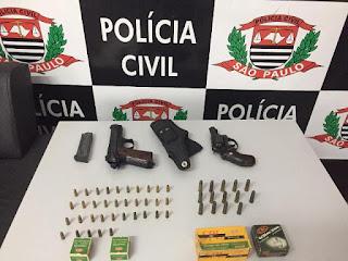Polícia Civil apreende armas e munições em Eldorado-SP