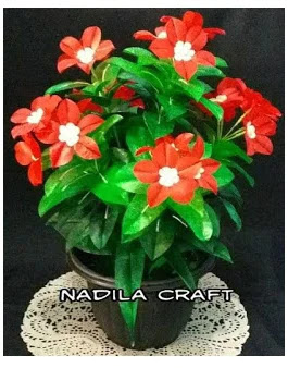 Bunga Dahlia Dari Plastik Kresek