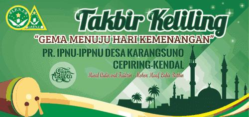 Download Desain Spanduk Takbir Keliling Idul Fitri 1440 H Tahun 2019 Full Edit
