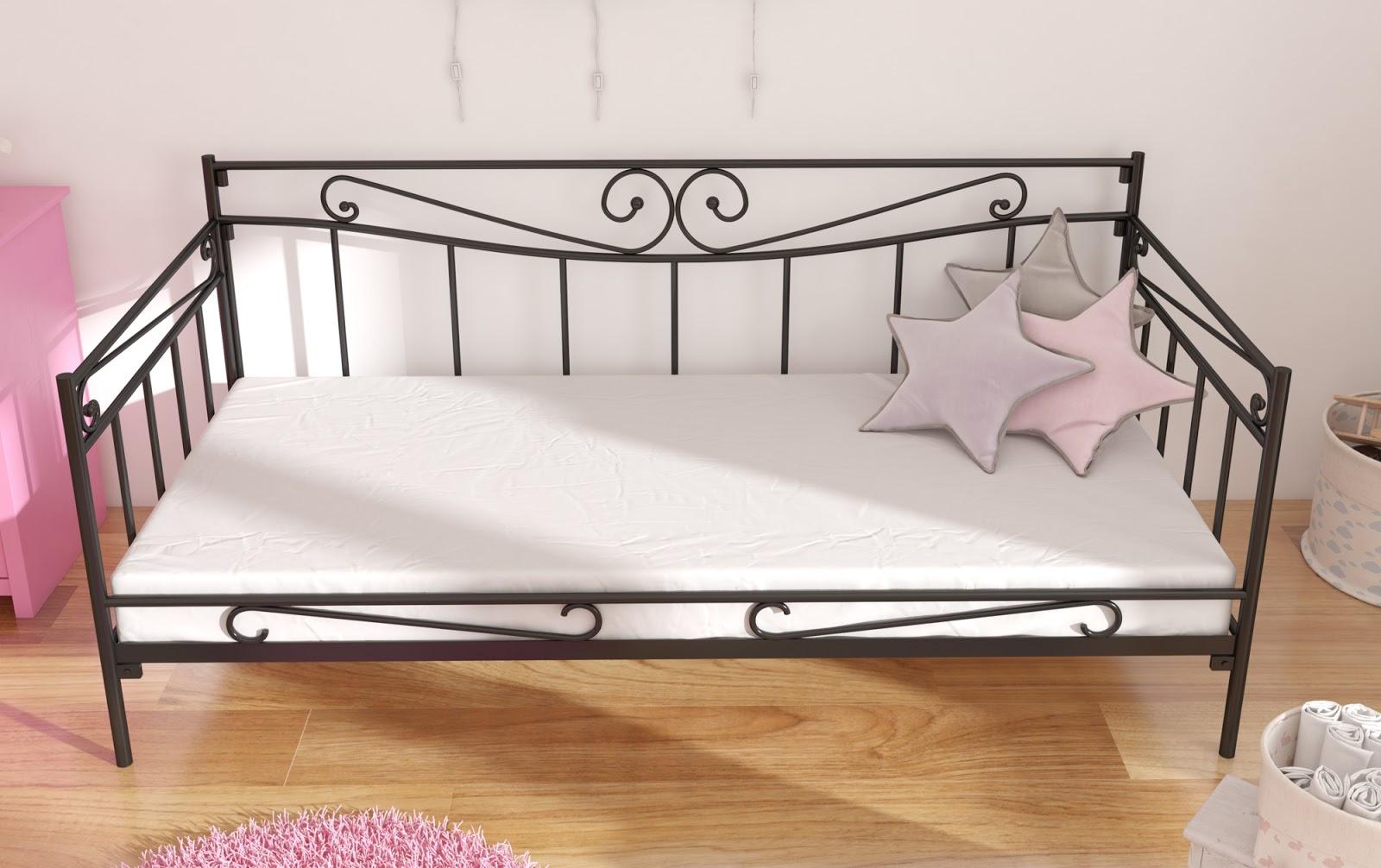 Łóżko metalowe sofa wzór 35