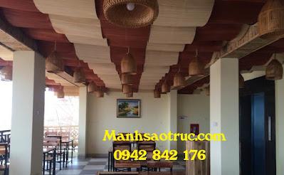 mành tre ốp trần nhà hàng hải sản tại Đồng nai