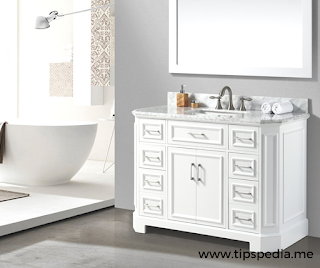 bathroom cabinets white double vanity