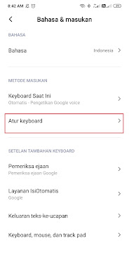 pengaturan keyboard whatsapp