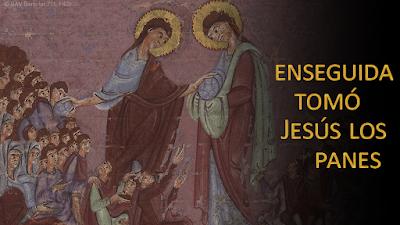Evangelio según Juan 6, 1-15: Enseguida tomó Jesús los panes