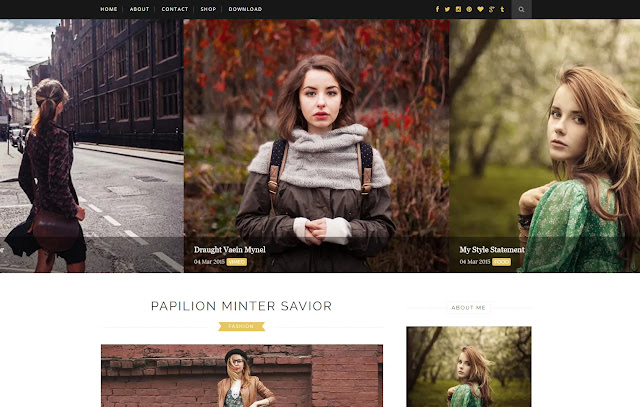 Elegant Responsive Personal Blog Fashions Girly Update Lifestyle Blogger Template Theme