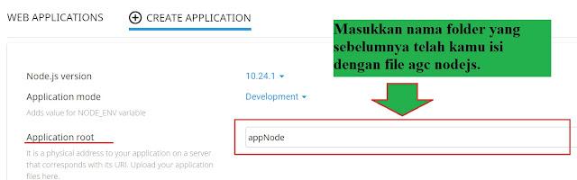 form input nama folder nodejs di cPanel