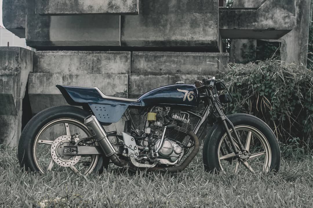 inspirasi modifikasi motor custom flat tracker 2