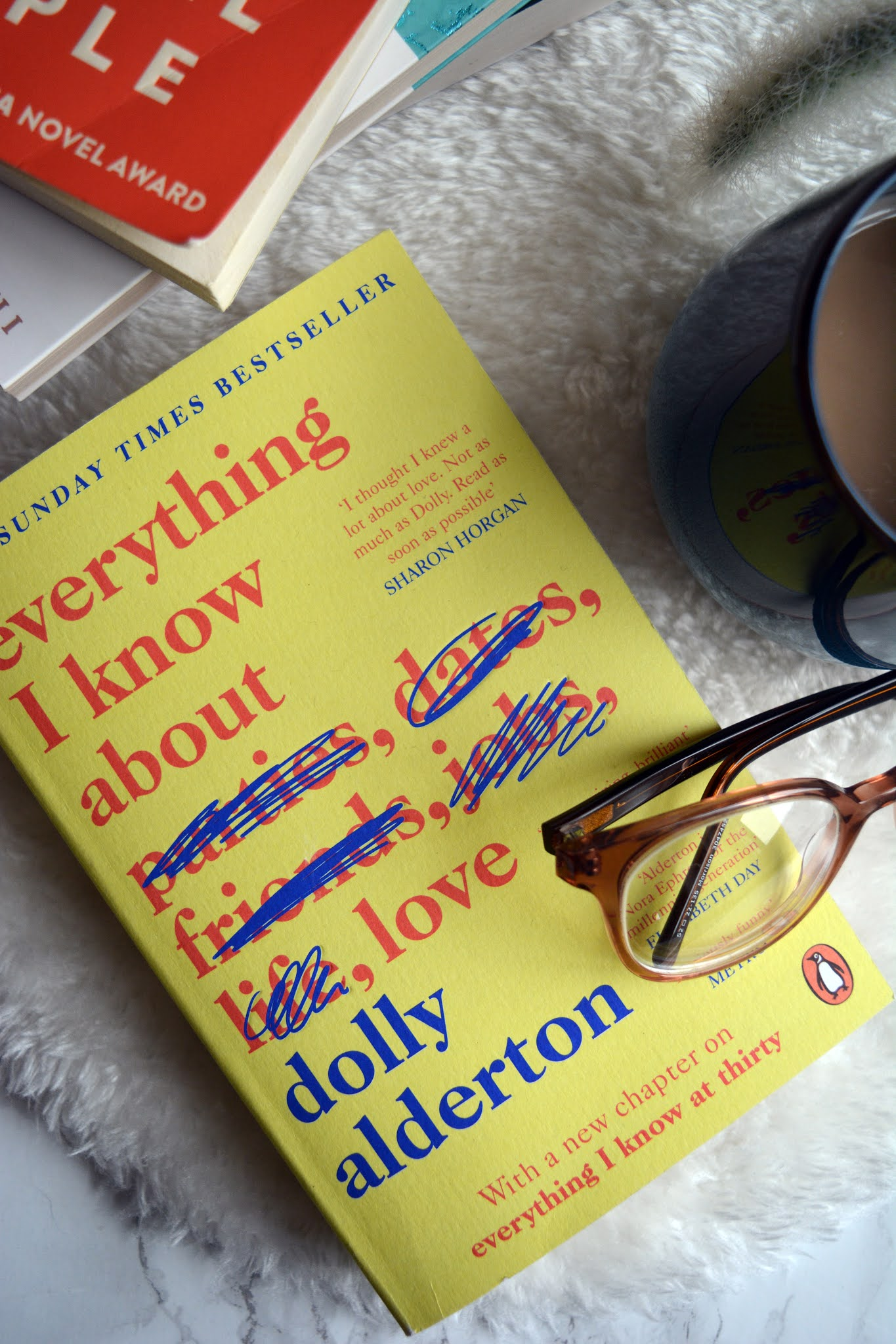 picture of dolly Alderton novel with yellow cover and red writing