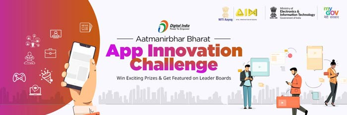 "Indian Government Launches ""Digital India AtmaNirbhar Bharat Innovate challenge"" for Indian App Developers"
