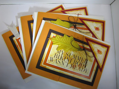 CraftyColonel Donna Nuce Club Scrap Falling Leaves Card Kit