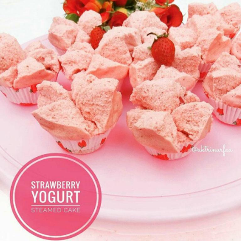 kuliner indonesia : Resep Bolu Kukus Strawberry Yoghurt ...