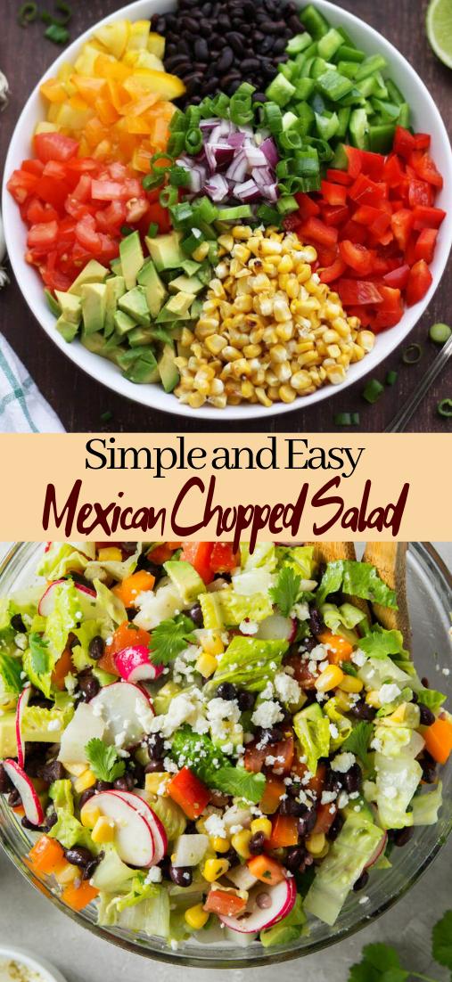 Mexican Chopped Salad #vegan #vegetarian #soup #breakfast #lunch