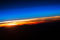 Earth's Atmosphere and Sunrise seen from the International Space Station