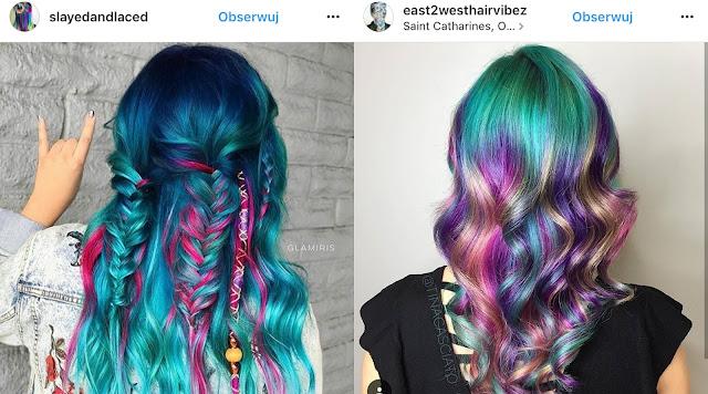 turkusowa farba do włosów