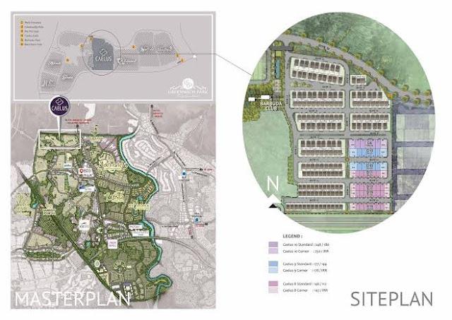 siteplan caelus at greenwich park bsd city