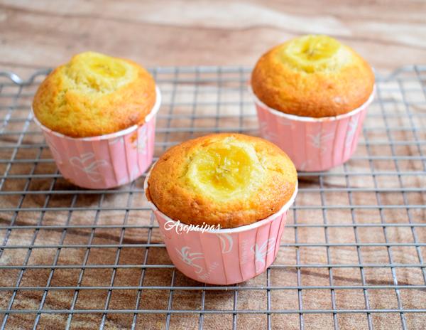 Muffins de Plátano. Vídeo Receta
